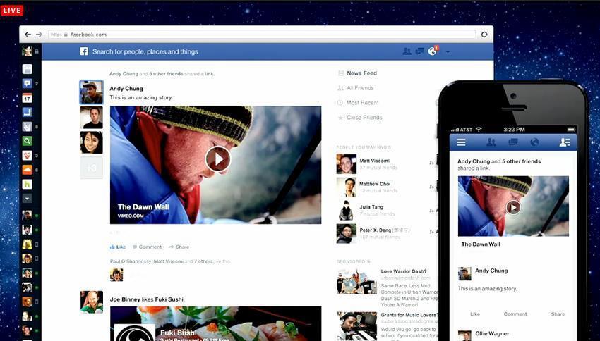 nouvel interface facebook